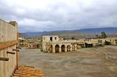 Plateau de filmagem espanhol do povoado indígeno, bravo do forte, deserto de Tabernas fotos de stock