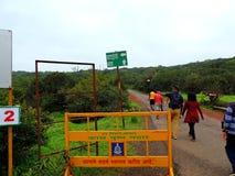 Plateau de Kaas - vallée des fleurs dans le maharashtra, Inde photo libre de droits