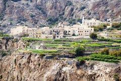 Plateau de l'Oman Saiq Image stock