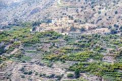 Plateau de l'Oman Saiq Photo stock