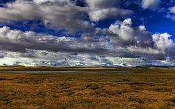 Plateau de la prairie de ciel Photo stock