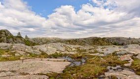 Plateau de montagne dans Rogaland, Norvège photo libre de droits