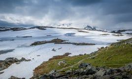 Plateau de montagne de Milou, Sognefjellet, Norvège Image stock