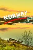 Plateau de montagne de Hardangervidda en Norvège Photo libre de droits