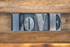 Plateau de mot d'amour Image libre de droits