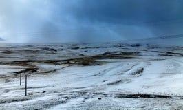 Plateau de neige Images libres de droits