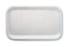 Plateau de nourriture de mousse Photo stock