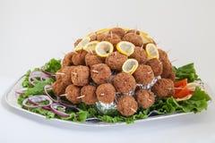 Plateau de partie avec des boulettes de viande restauration Photo stock