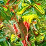 Plateau de peinture de couleur Photo stock