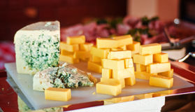 Plateau de sélection de fromage Image stock