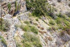 Plateau de Saiq de chemin de l'Oman Photos stock