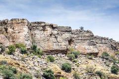 Plateau de Saiq de roches Image libre de droits