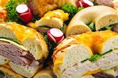 Plateau de sandwich Images libres de droits