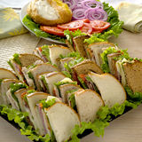 Plateau de sandwich Photographie stock