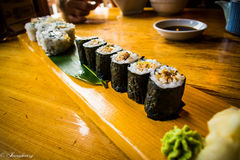 Plateau de sushi Photo stock