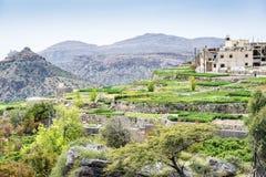 Plateau dell'Oman Saiq Fotografia Stock
