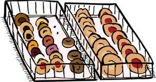 Plateau des pâtisseries douces illustration de vecteur