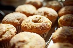 Plateau des petits pains ou des petits gâteaux fraîchement cuits au four Images libres de droits