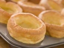 Plateau des puddings de Yorkshire Photographie stock libre de droits