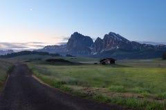 Plateau di Alpe di Siusi Fotografia Stock Libera da Diritti