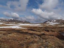 Plateau di Cainrgorms, a sud di Braeriach, la Scozia in primavera Fotografie Stock