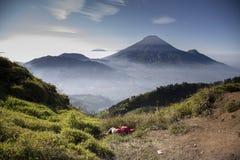 Plateau di Dieng fotografie stock libere da diritti