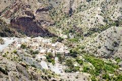 Plateau di Saiq del villaggio dell'Oman Fotografia Stock