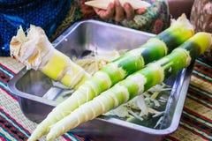 Plateau en bambou Photographie stock libre de droits