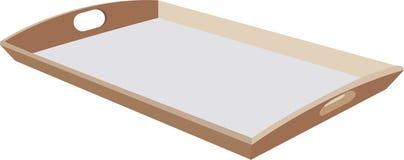 Plateau en bois pour le transport de nourriture illustration stock