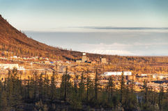 Plateau Foothills Putorana. Taimyr Peninsula in Norilsk area. Stock Images