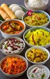 Plateau indien du sud de Telugu - nourriture de temple image stock
