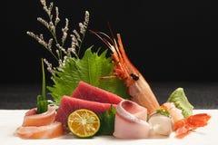 Plateau japonais de sashimi Images stock
