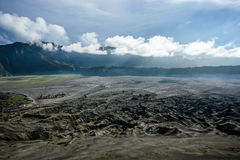 Plateau in Java island , Indonesia. View from volcano crater stock photos