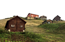 A Plateau on Kackar Mountains in Turkey Royalty Free Stock Image