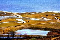 Plateau lake Royalty Free Stock Photography