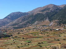 Plateau Omalos sur Crète, Grèce Photographie stock