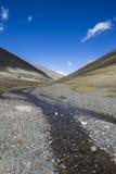 Plateau, paysage de plateau tibétain Images stock