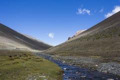 Plateau, paysage de plateau tibétain Photo libre de droits