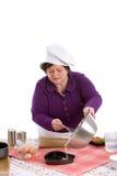 plateau pleuvant à torrents de cuisson Photos stock
