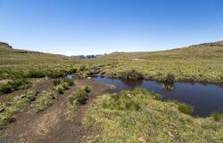 Plateau przy wartownik podwyżką w Drakensberge regionie, Południowa Afryka Obrazy Royalty Free