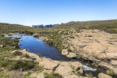 Plateau przy wartownik podwyżką w Drakensberge regionie, Południowa Afryka Obraz Stock