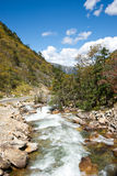 Plateau river in autumn Royalty Free Stock Photography