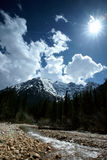 Plateau river with blue sky in sichuan of china Stock Photography