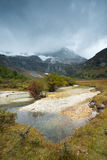 Plateau river landscape in autumn Stock Photos