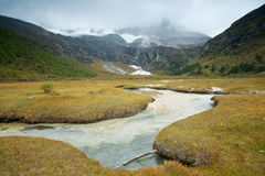 Plateau river  in sichuan of china Stock Photo