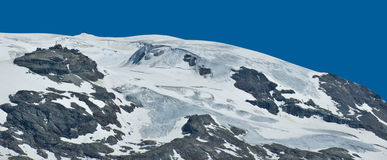 Plateau Rosa, Aosta Valley - Italy. Plateau Rosa glacier in Valtournenche, Aosta Valley - Italy royalty free stock images