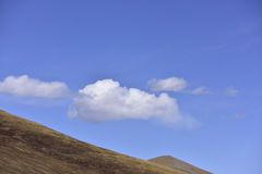 Plateau scenery ~ blue sky white clouds! Royalty Free Stock Photos
