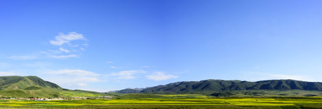 The plateau scenery of the Qinghai - Tibet plateau & x28; in Qinghai province of China & x29;. The Qinghai - Tibet plateau & x28; in China& x27;s Qinghai Royalty Free Stock Photo