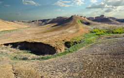 Plateau Shalkar-Nura di panorama Fotografia Stock