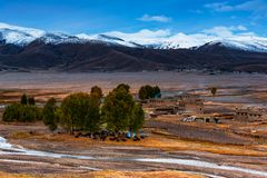 Plateau snow mountain in western Sichuan Plateau stock image